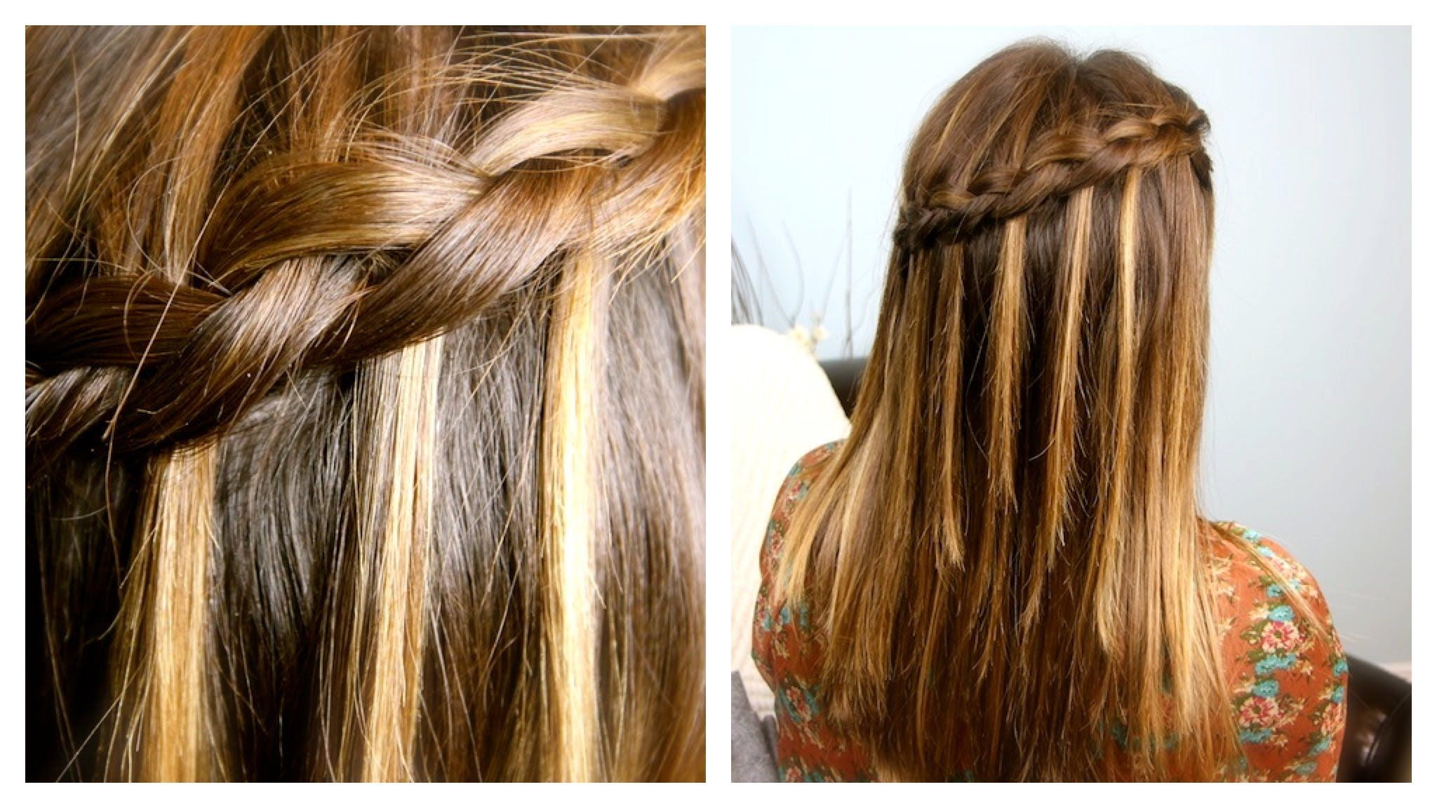 How to make a Dutch waterfall braid