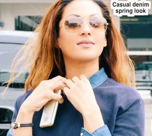 Casual denim spring look, Anna-Radha Ghiraw, Radha Ghiraw