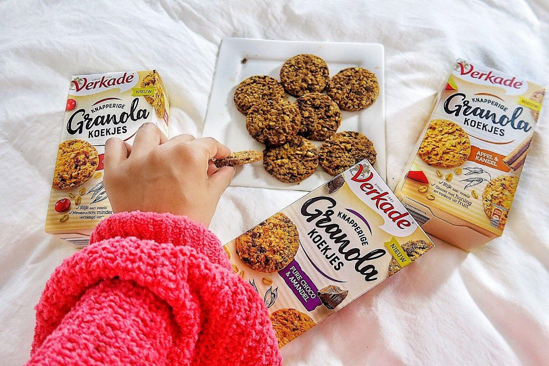 De koude wintermaanden door met nieuwe Verkade Granola koekjes,1